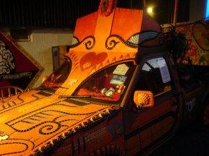 An incredibly intricate and beautiful magic car
